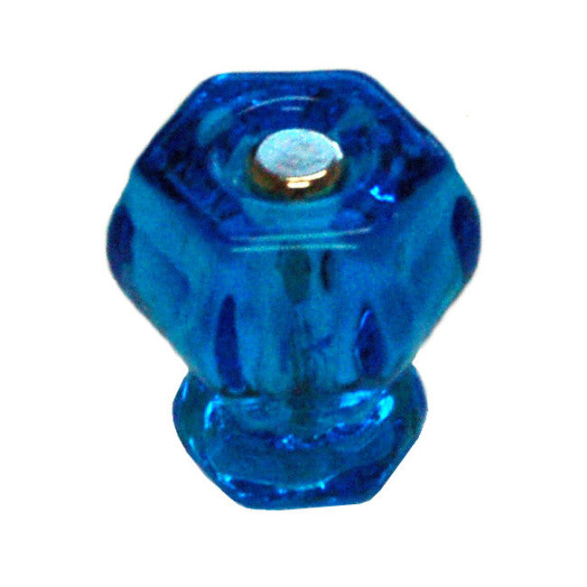 Glass Colored Hexagonal Cabinet Knobs (11 colors!)