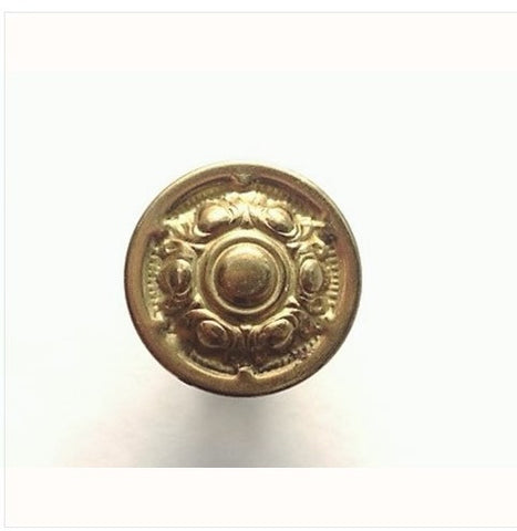 1920s Stamped Brass Drawer Knobs