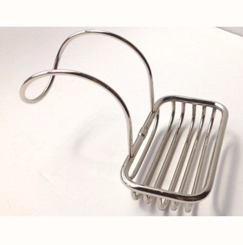 New Nickel Over the Rim Bath Tub Soap Caddy