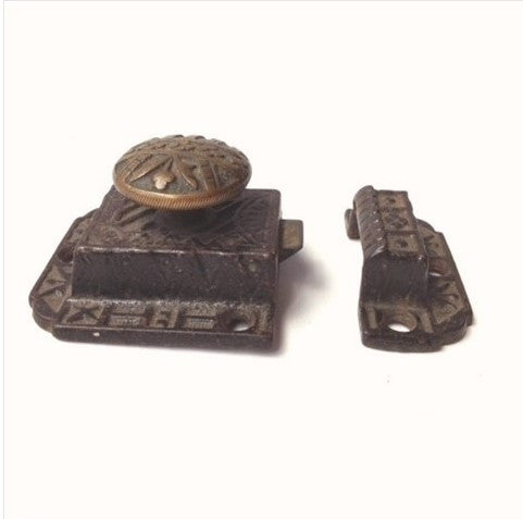 Iron and Brass Victorian Cabinet Latch