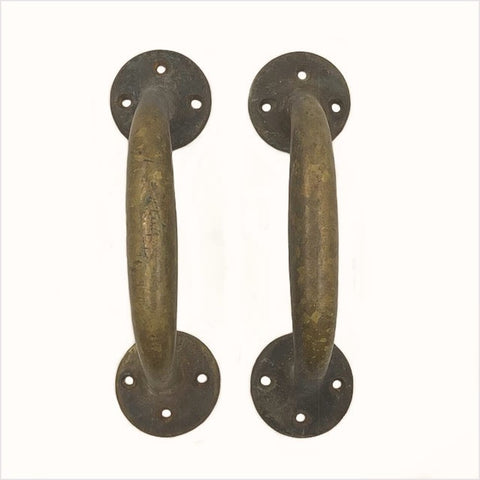 Barn Door Full Size Brass Pulls Pair
