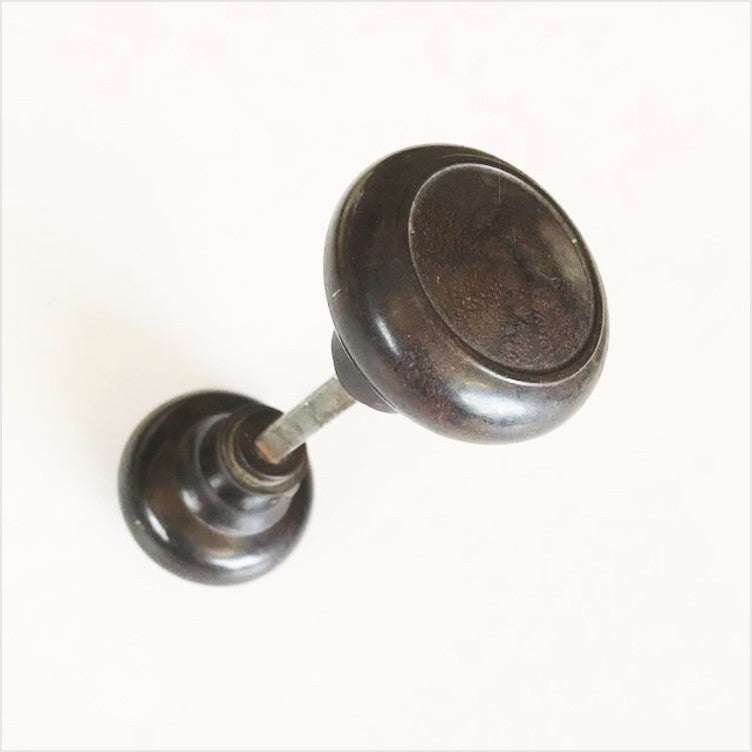 Brown Bakelite Doorknobs 1940s