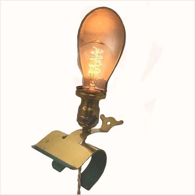 Industrial Brass Clamp On Work Light Lamp
