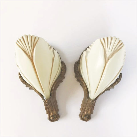 Batwing Clam Shell Slipper Shade Wall Sconces