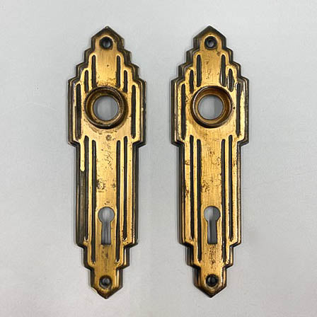 Art Deco Skyscraper Escutcheon Set
