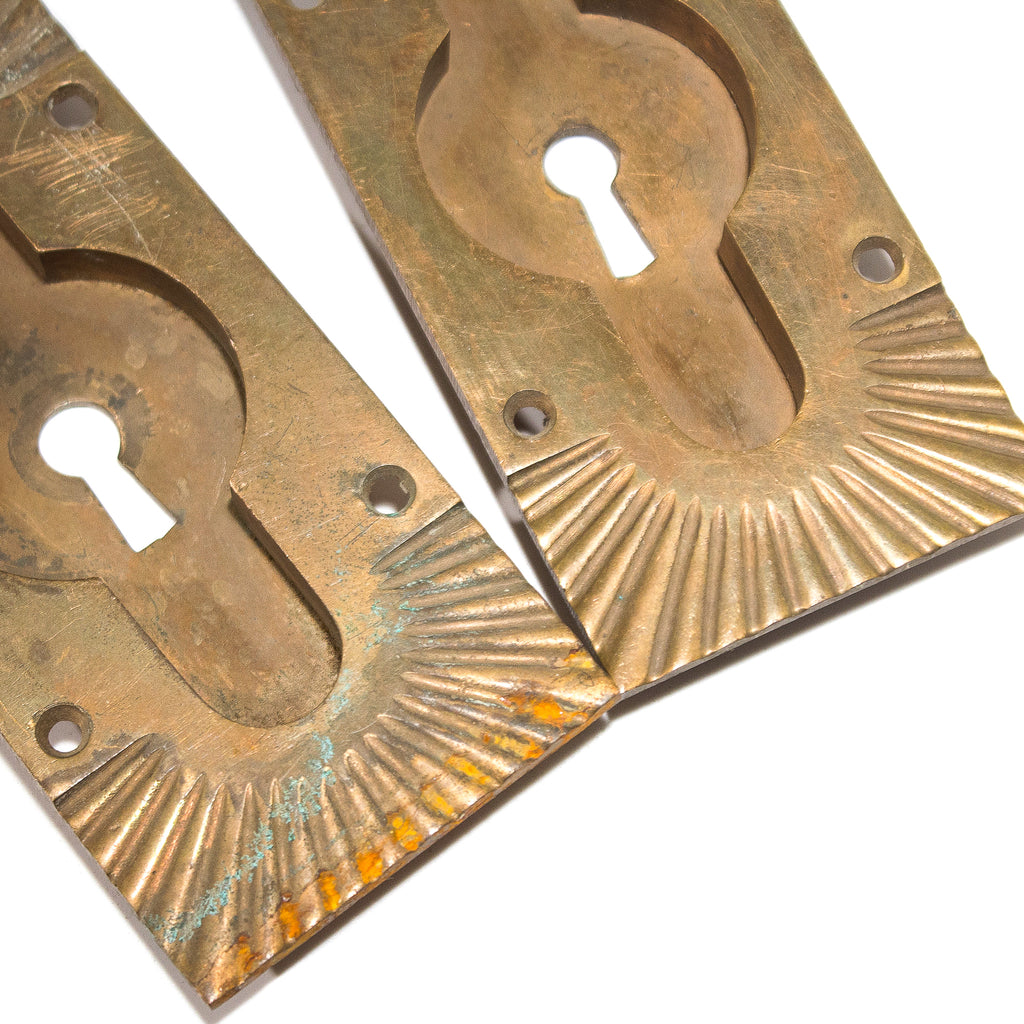 Arts and Crafts Bronze Pocket Door Pulls (2)