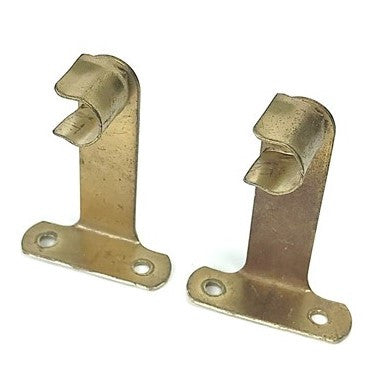 Vintage Brass Curtain Rod Brackets