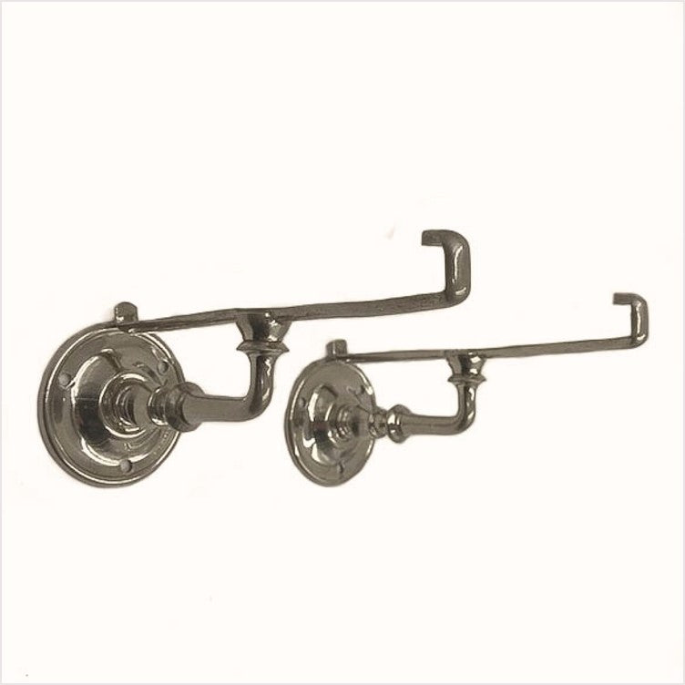 Sternau Nickel Bathroom Shelf Brackets