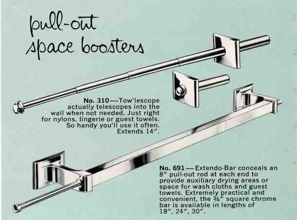 1950s Hallmack Tow'lescope Extendable Towel Bar