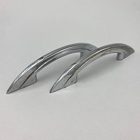 Deco Heavy Stepped Chrome Pulls