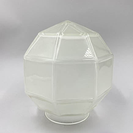 Frosted Hexagon Clear Globe Shade
