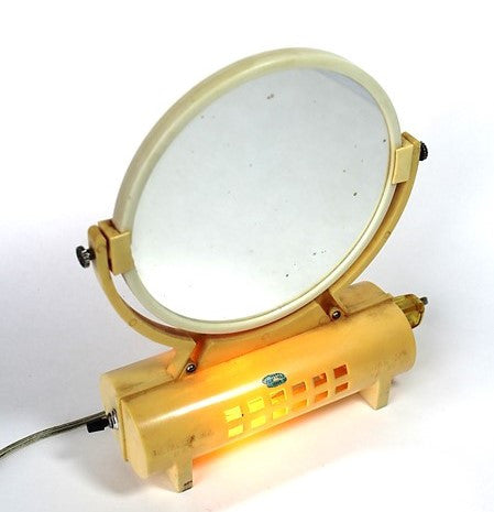 Early Plastic Retro Table-Top Mirror Light