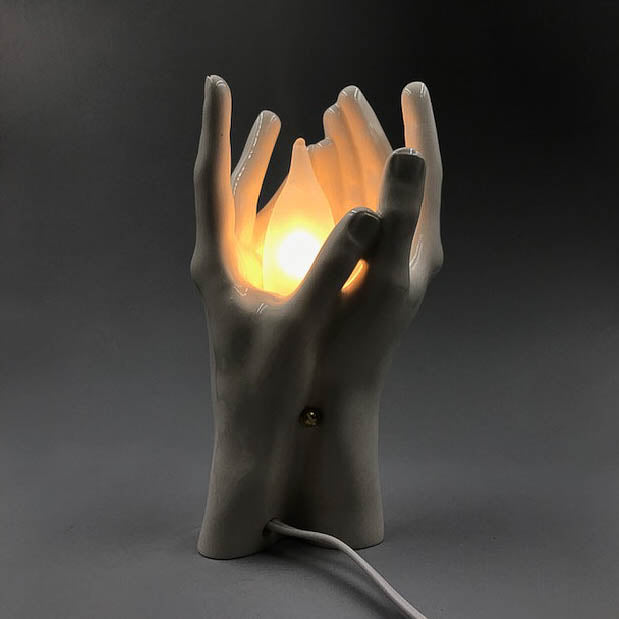 Hands Porcelain Table Lamp by Nancy Funk