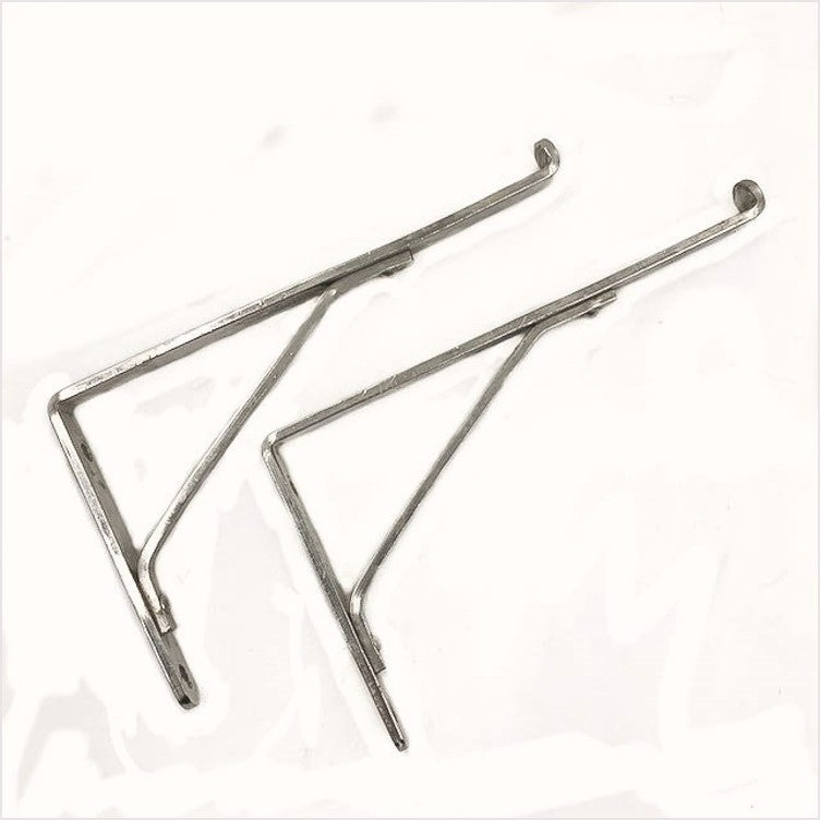 Craftsmans Antique Bathroom Nickel Shelf Brackets