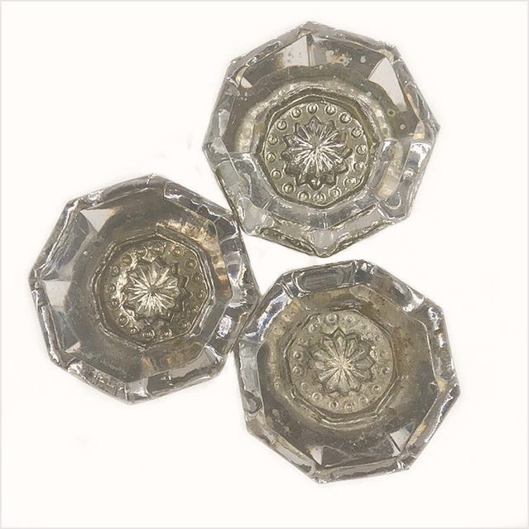 Matching Glass Octagonal Doorknobs
