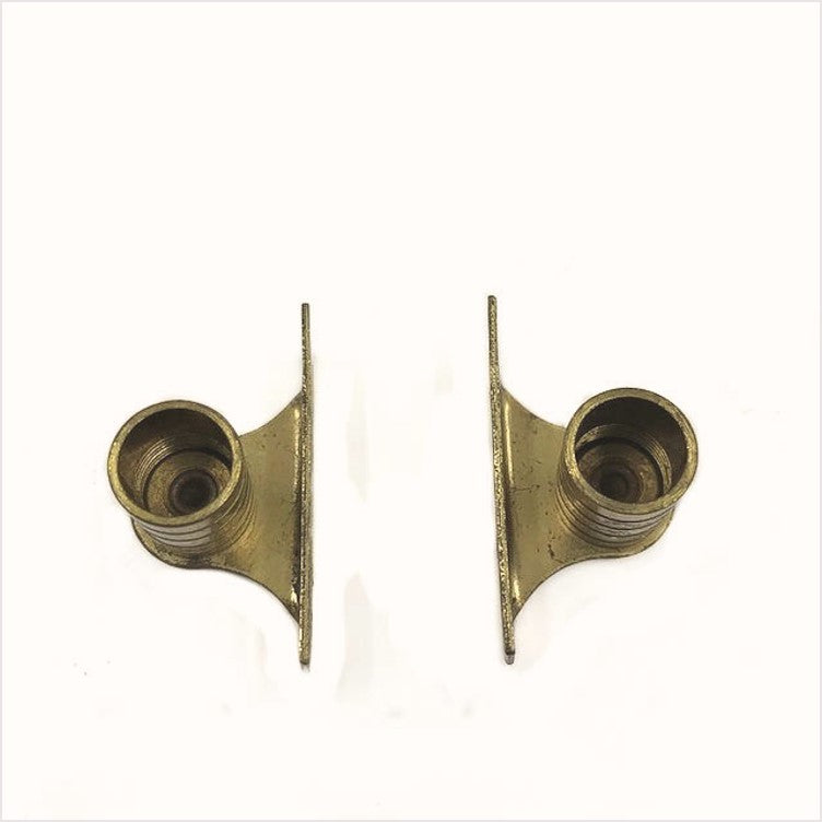 Brass Cafe Curtain Rod Ends Pair