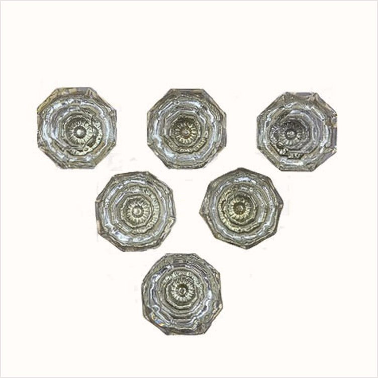 Clear Glass Octogonal Cabinet knobs