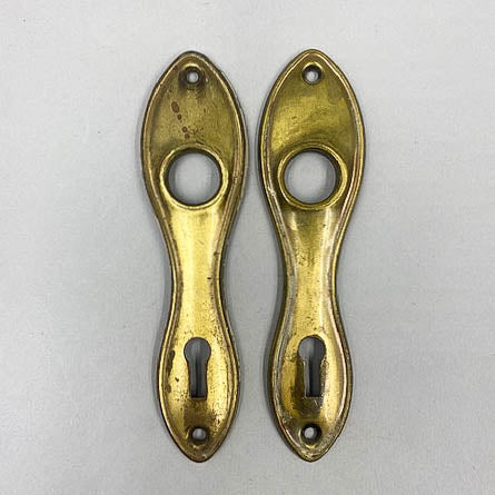 Small 1940s Brass Door Plate Set (2)