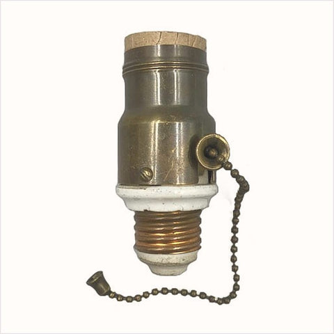 Antique Lighting Screw in Socket with Pull Chain