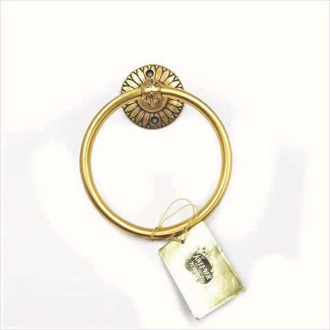 Hollywood Regency Mid-Century Gold Towel Ring