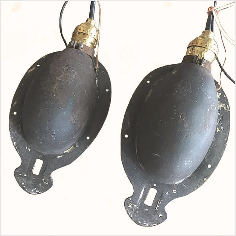 Curved Train Pullman Iron Enamel Wall Sconces