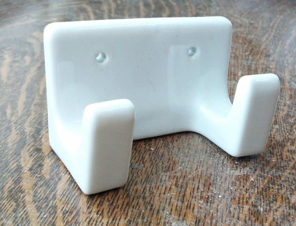 Porcelain Bathroom Double Hook