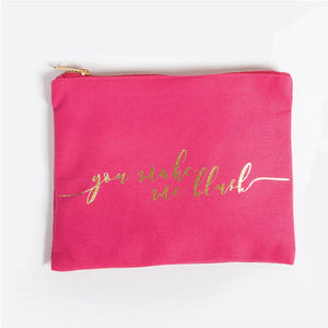 You Make Me Blush Canvas Pouch