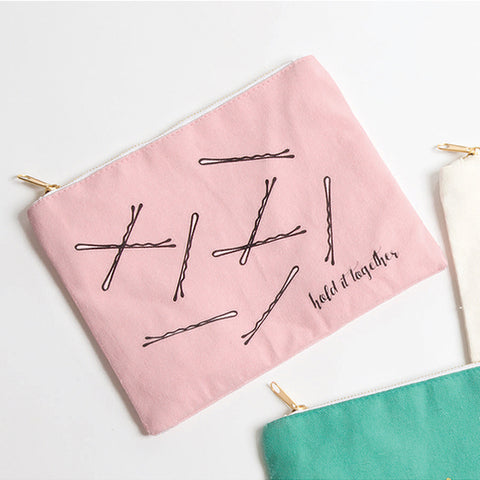 Hold It Together Canvas Pouch