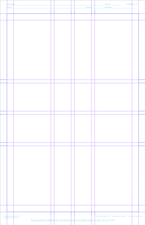 Comic Book Page Templates For Clip Studio Paintmanga Studio 5