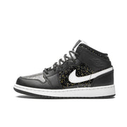 Air Jordan 1 Mid Black Glitter