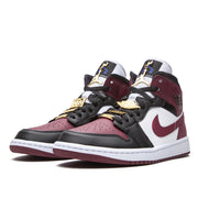 Air Jordan 1 Mid SE  Black Dark Beetroot Gold Pendant