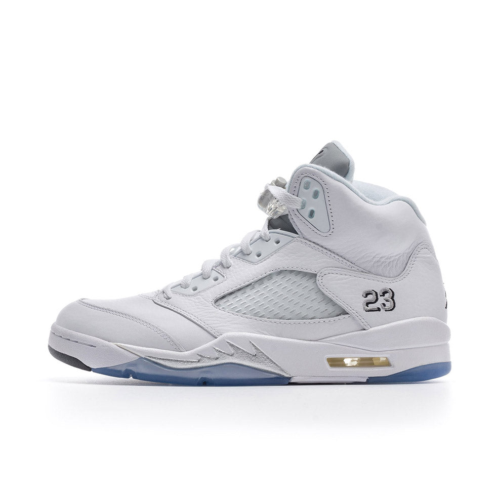 Air Jordan 5 Retro Metallic White
