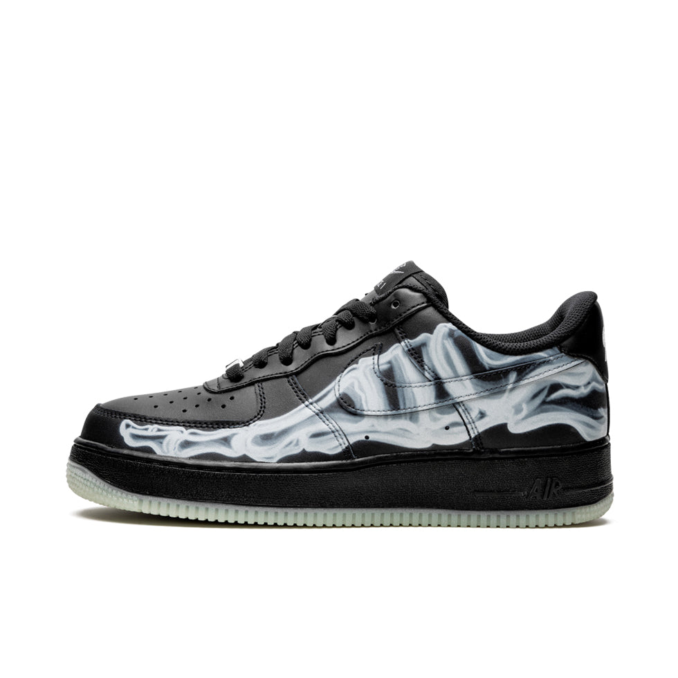 Nike Air Force 1 '07 Low Black Skeleton - UnityWorldWild