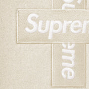 Supreme Cross Logo Hooded Sweatshirt Natural