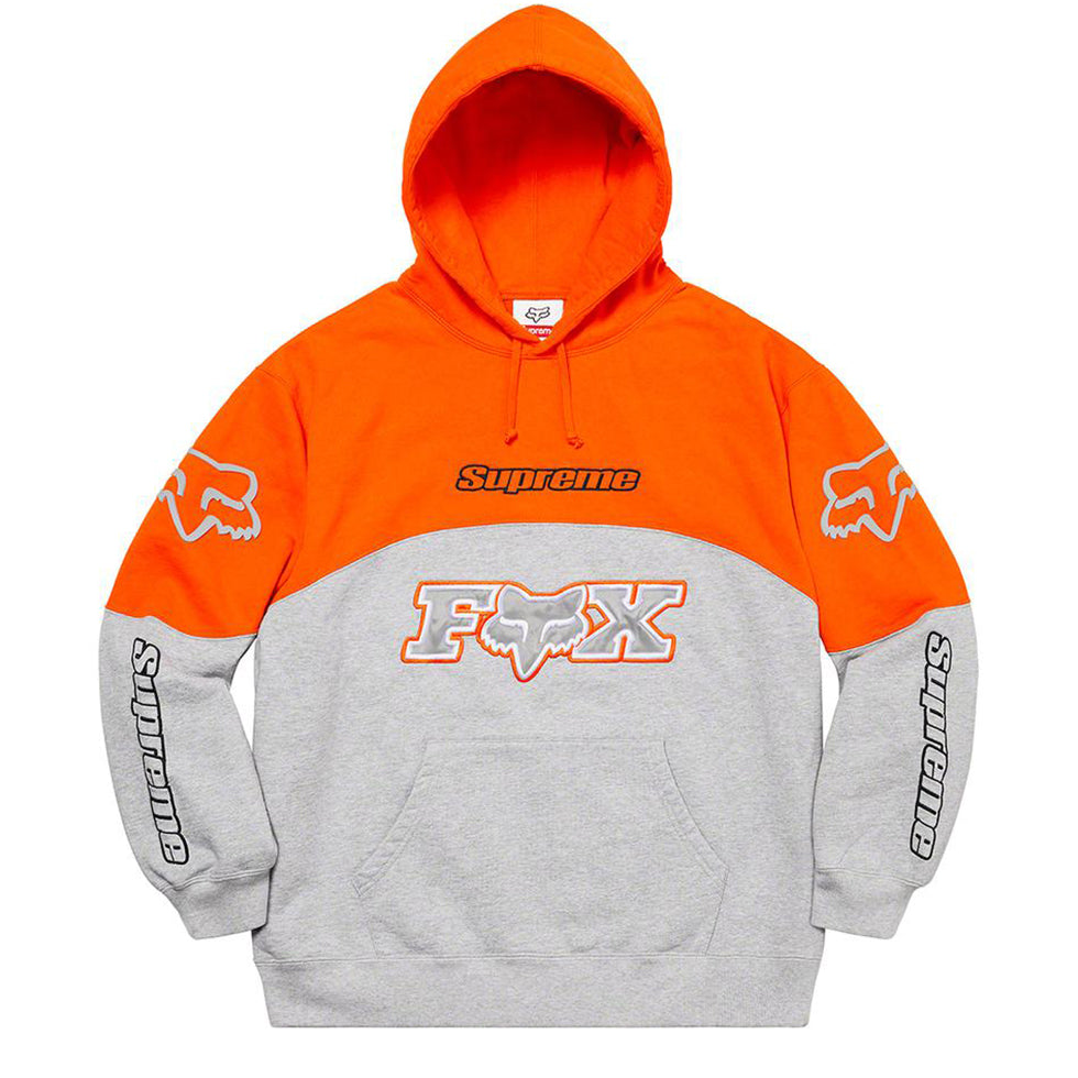 Supreme x Fox Racing Hooded Sweatshirt Grey - UnityWorldWild