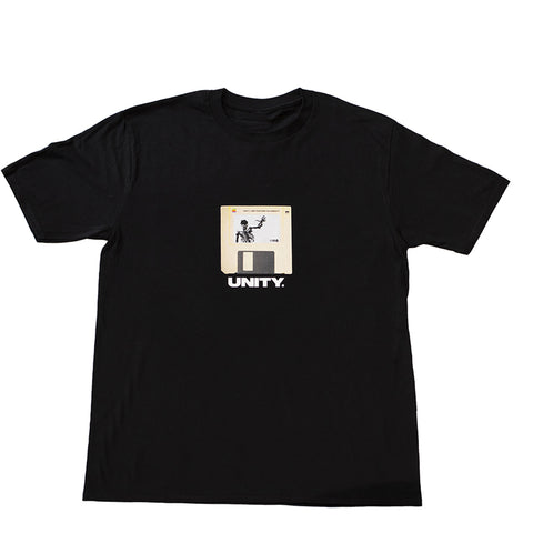 Unity Floppy Escape Black T-Shirt - UnityWorldWild