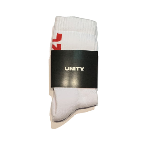 Unity Vertical Red Logo Socks