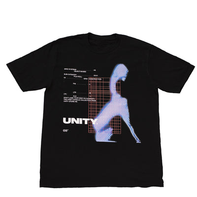 Unity Virtual Reflection Black T-Shirt - UnityWorldWild