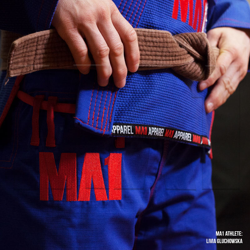 MA1 Female Premium Comp Gi - Blue, Red & White