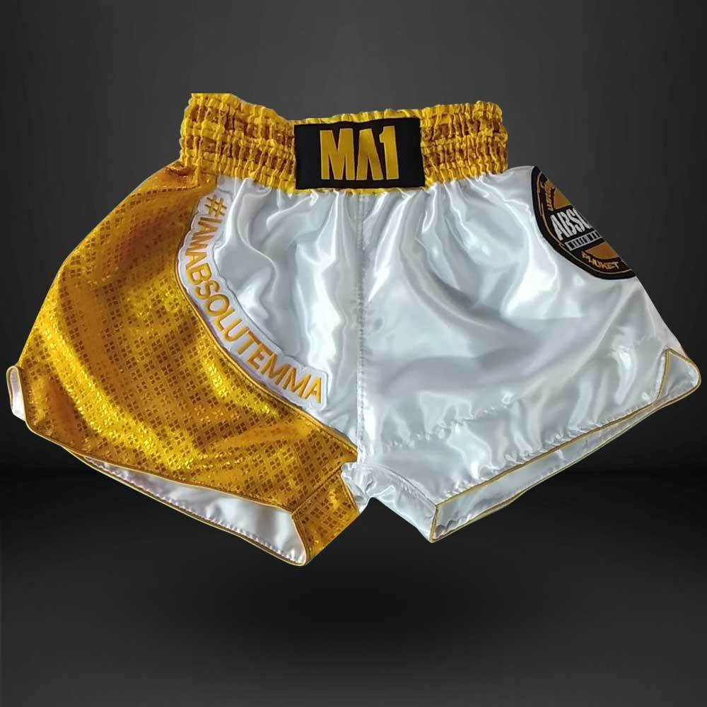 MA1 Thai Made Gold Absolute Thailand Muay Thai Shorts