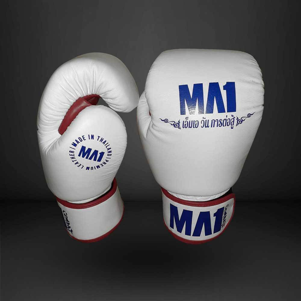 MA1 Thai Made Tri-Colour Leather 14oz Boxing Gloves