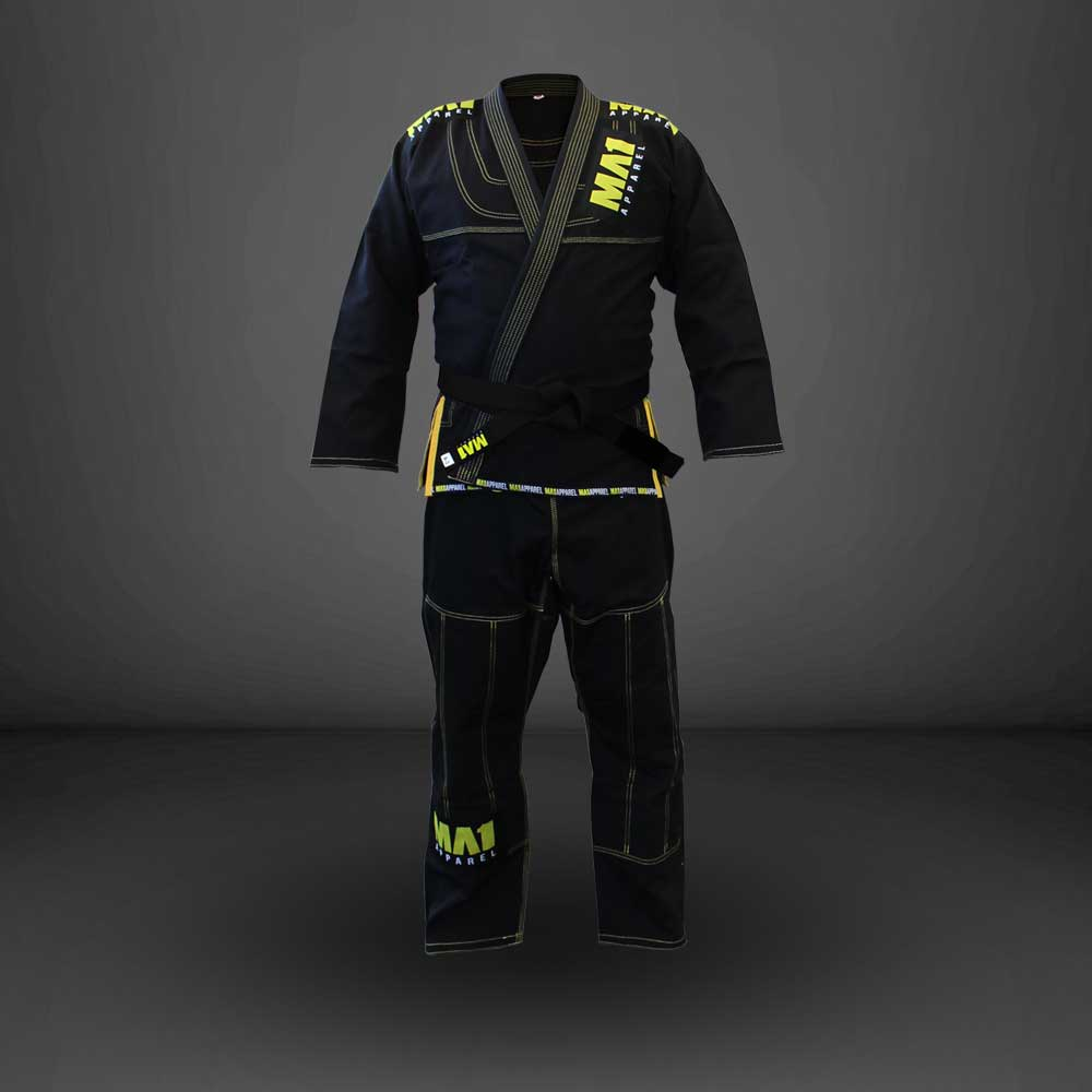 MA1 Ultra Light Gi - Black (contrast stitching)