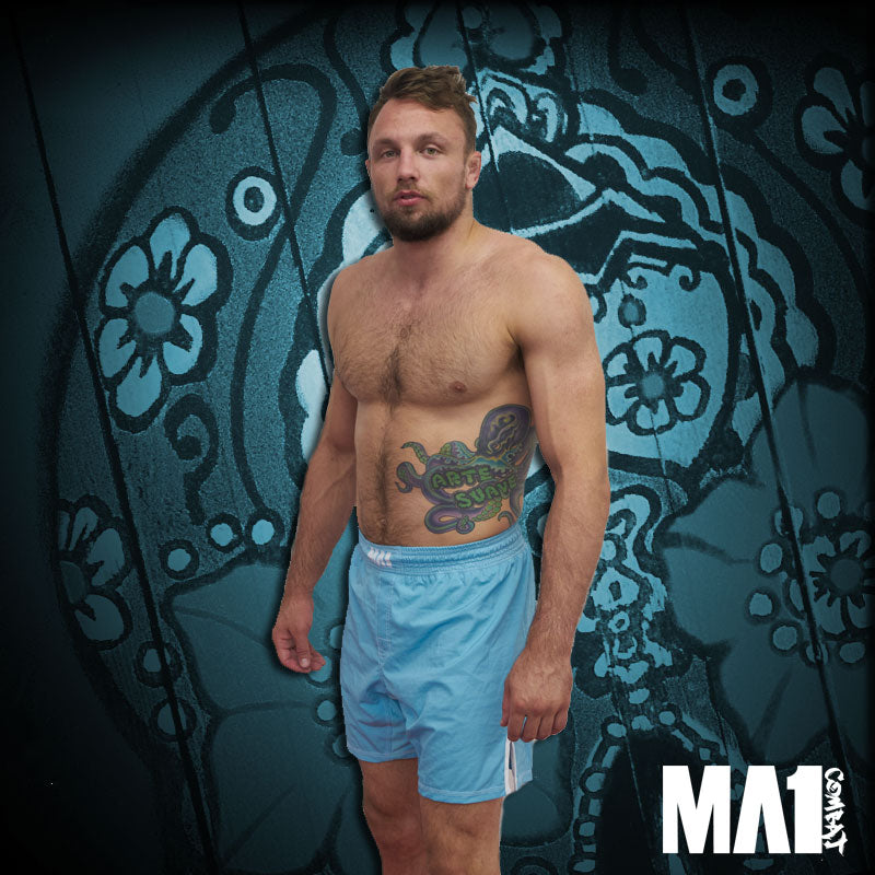 MA1 Combat Basic Aqua MMA Shorts - Craig Jones