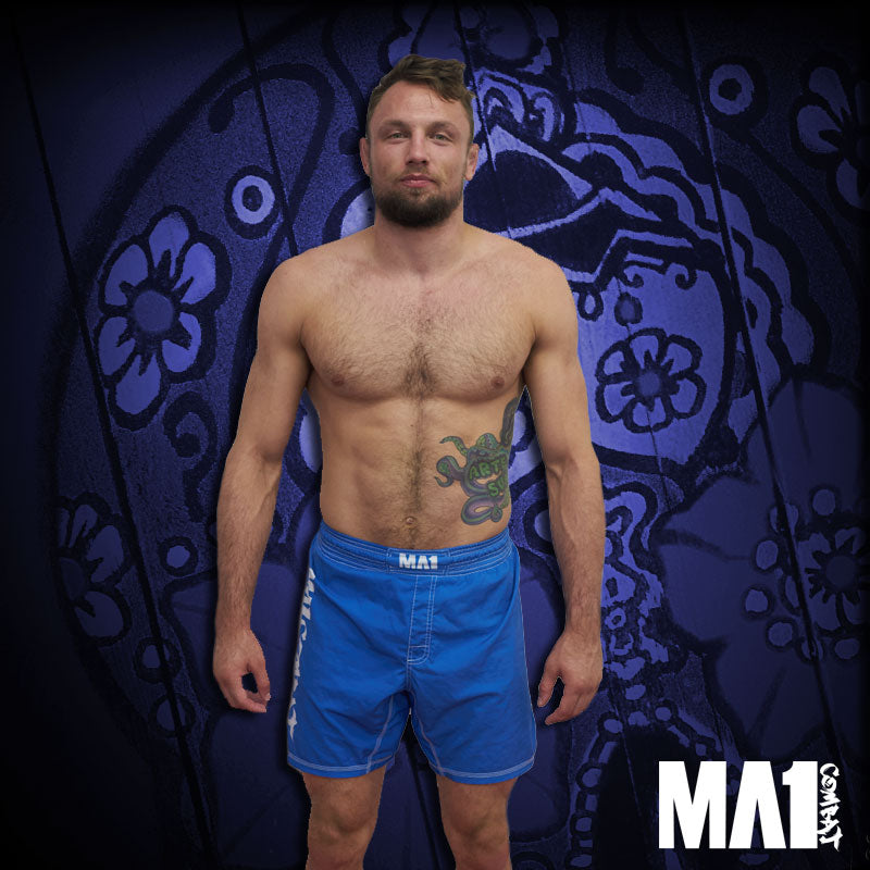 MA1 Combat Basic Blue MMA Shorts - Craig Jones