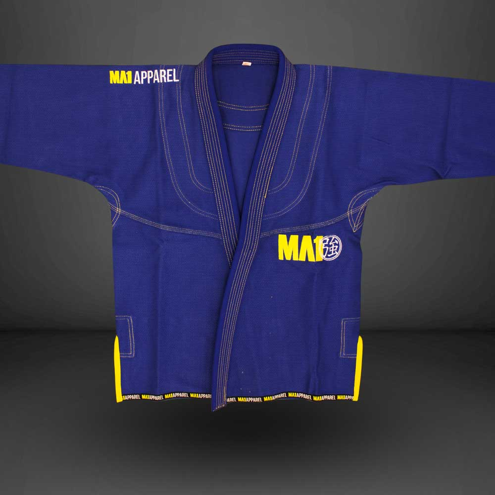 MA1 Premium Comp Gi - Blue & Yellow
