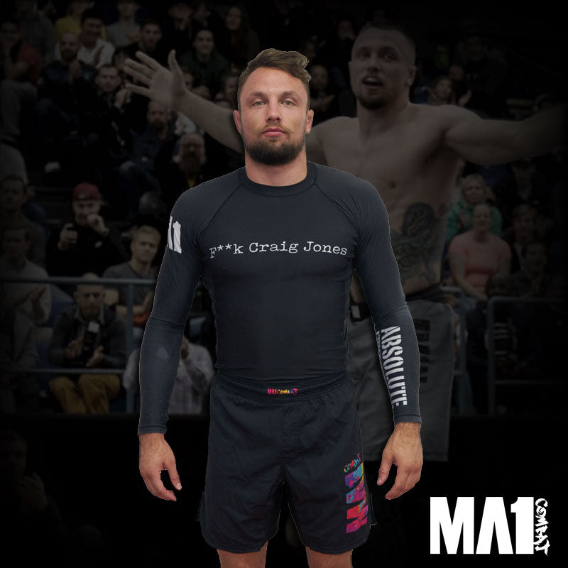 MA1 F**K Craig Jones Long Sleeve Rash Guard - Craig Jones