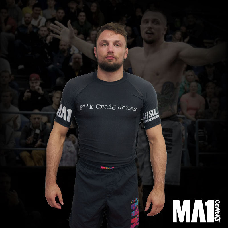 MA1 F**K Craig Jones Short Sleeve Rash Guard - Craig Jones