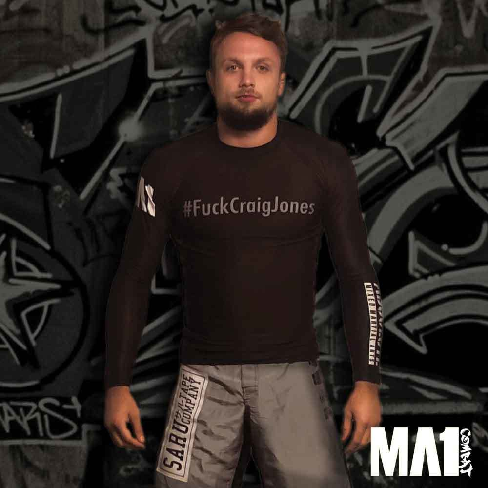 MA1 #FuckCraigJones Long Sleeve Rash Guard - Model: Craig Jones