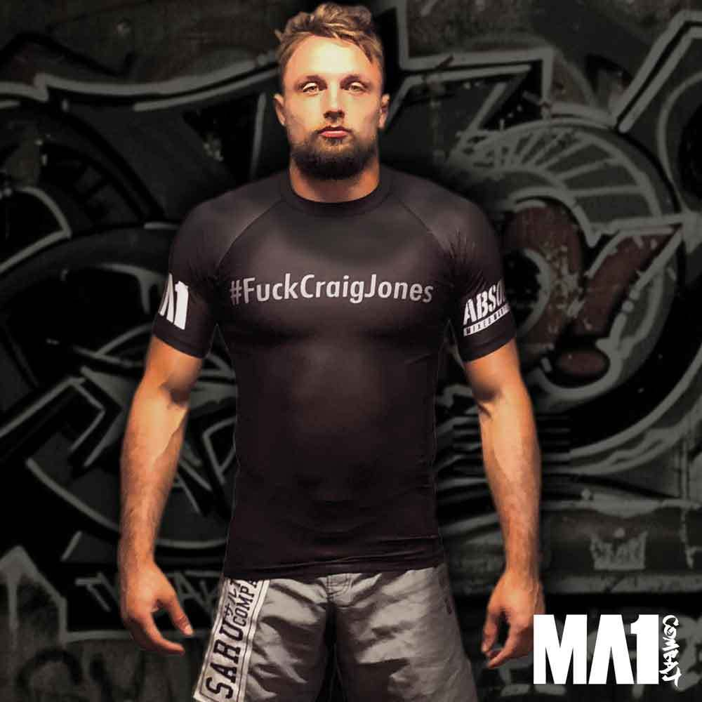 MA1 #FuckCraigJones Short Sleeve Rash Guard - Model: Craig Jones