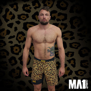 MA1 Craig Jones Gold Leopard MMA Shorts
